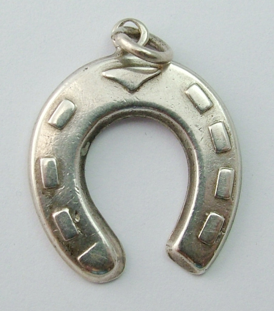 Vintage 1930's Solid Silver Horseshoe Charm HM 1935 1920s-1950s Charm - Sandy's Vintage Charms