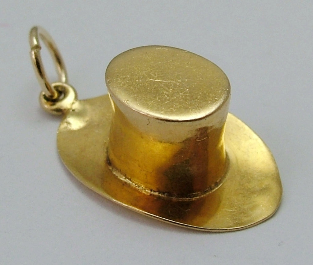 Vintage 1950's 9ct Gold Top Hat Charm Gold Charm - Sandy's Vintage Charms