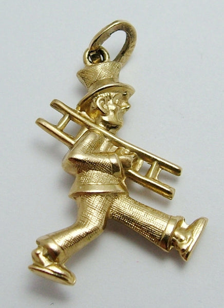 Vintage 1970's 8ct Gold Puffed Chimney Sweep Charm Gold Charm - Sandy's Vintage Charms