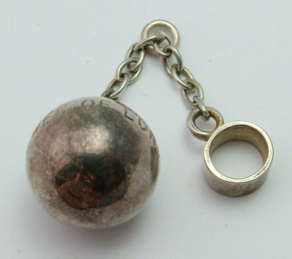 Vintage 1970's Silver Tower of London Ball & Chain Charm HM 1978 Silver Charm - Sandy's Vintage Charms