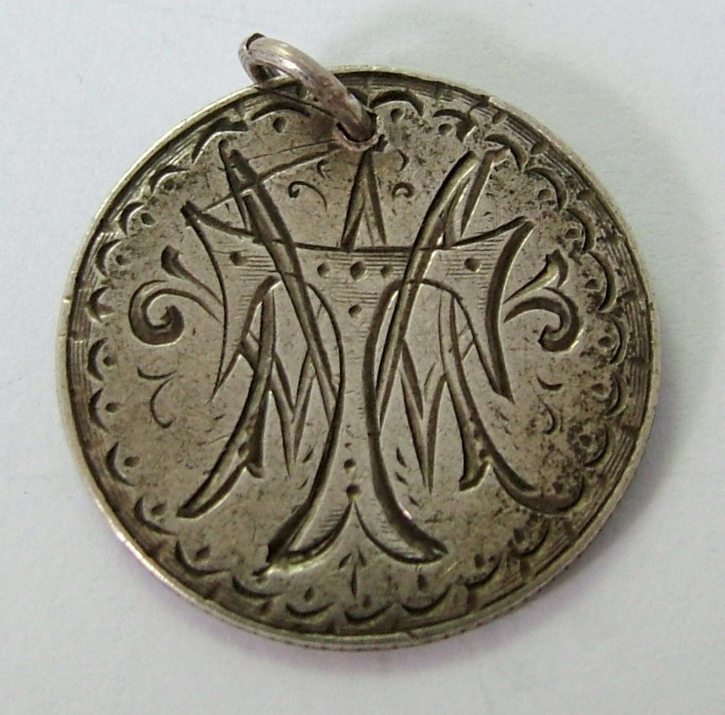 Victorian USA Silver Engraved Love Token Coin Charm MTW Love Token - Sandy's Vintage Charms