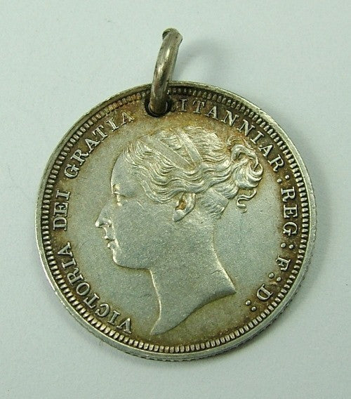 Victorian Silver Engraved Love Token Coin Charm JSH & MLH Love Token - Sandy's Vintage Charms