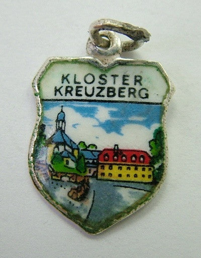 Silver & Enamel Shield Charm for KLOSTER KREUZBERG Shield Charm - Sandy's Vintage Charms