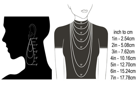 Self-Same earring necklace size guide