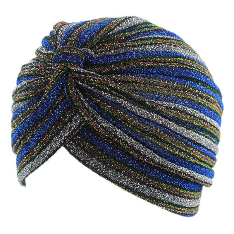 Striped glitter beach turban (other colours available)