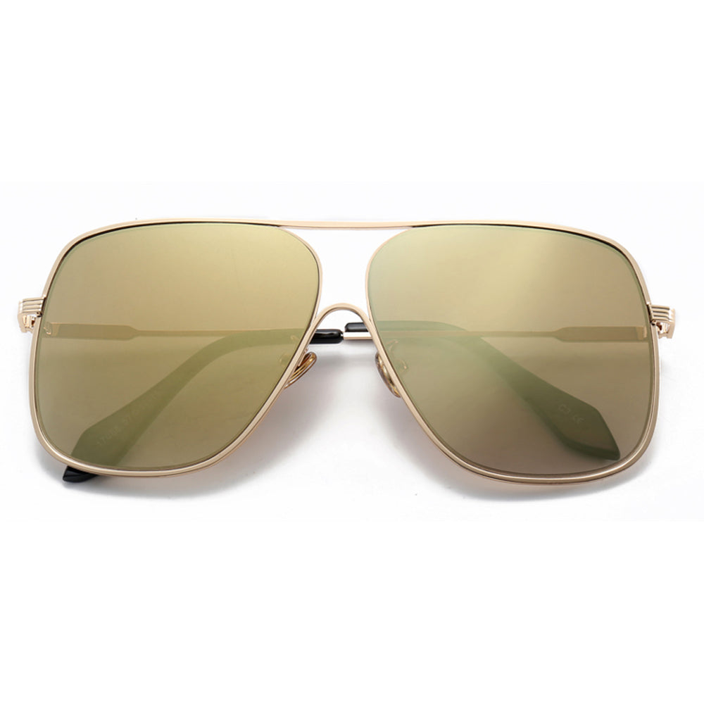 Farrah mirrored aviators- Gold