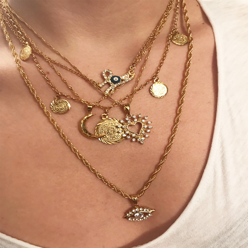 Aphrodite gold plated necklace