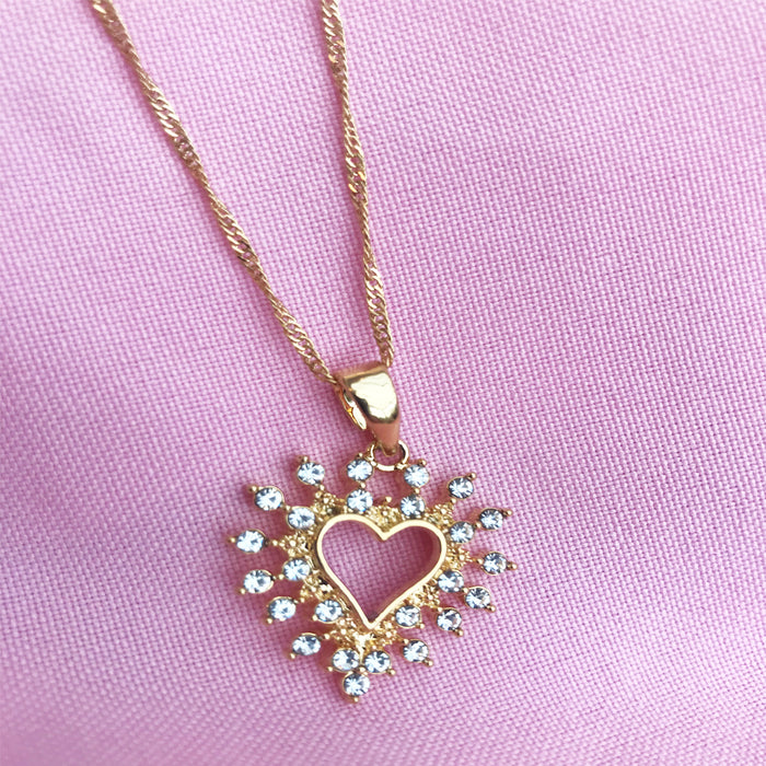 Gold plated crystal necklace chain