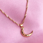 To the moon gold plated necklace