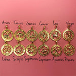 Zodiac star sign necklace