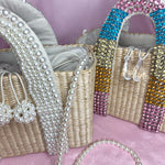 Serafina beaded pearl bag