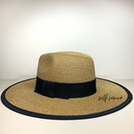 Goldie straw beach hat