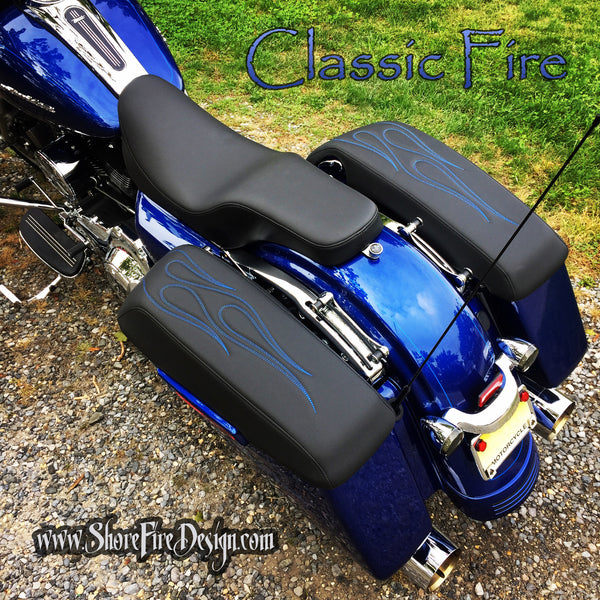ClassicFire - Stitched - HD Saddlebag Lid Covers