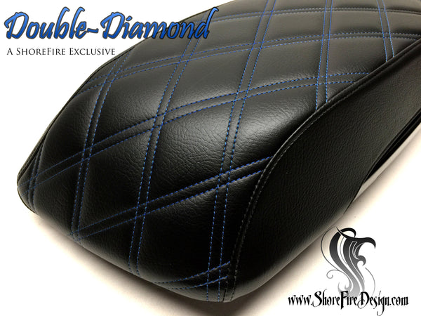 Double Diamond - HD Saddlebag Lid Covers