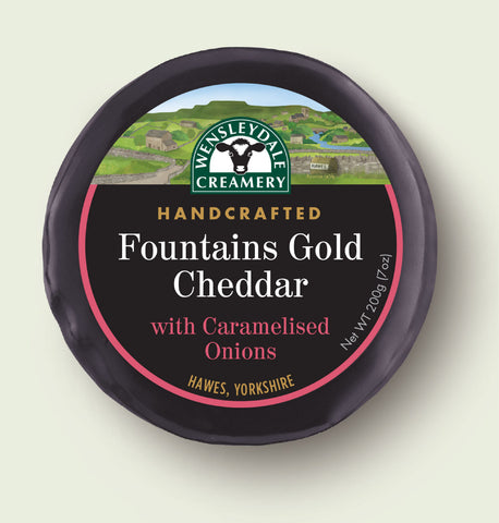 Fountain's Gold Cheddar with Caramelised Onions 200g