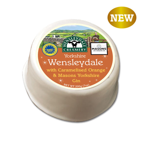 Yorkshire Wensleydale with Caramelised Orange & Masons Yorkshire Gin 200g