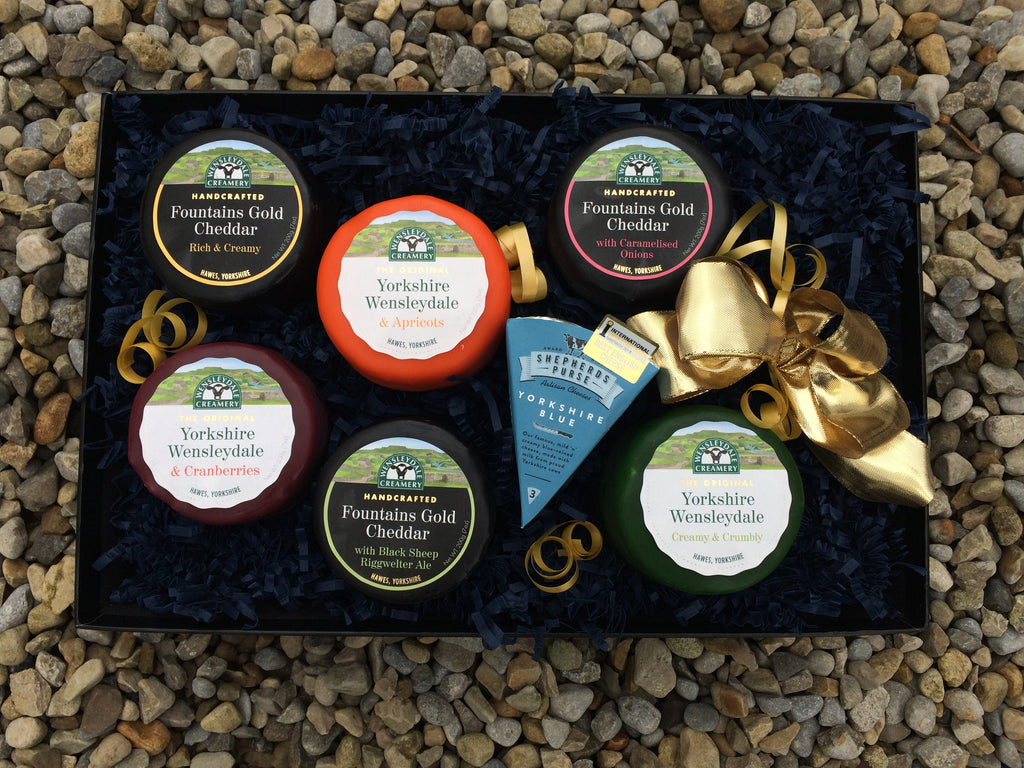 Magnificent Seven Truckle Gift with Yorkshire Blue