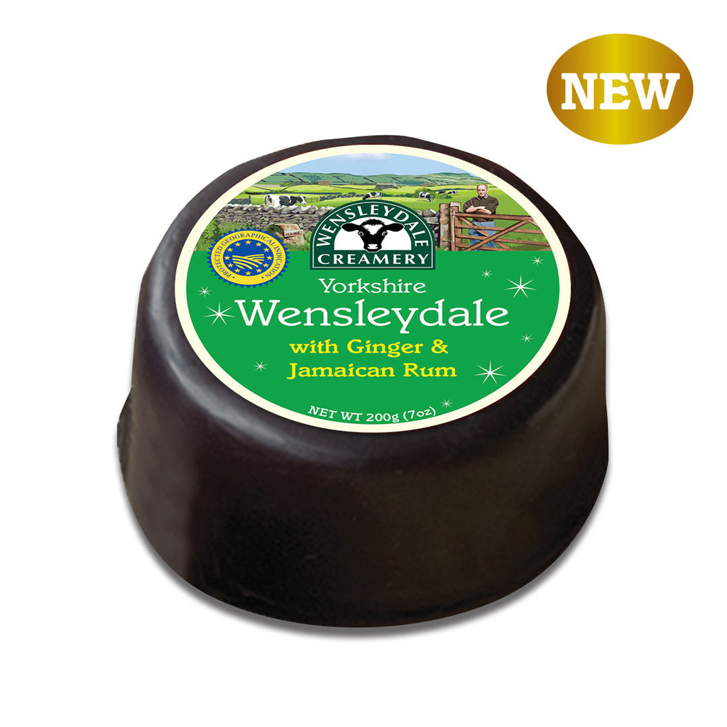 Yorkshire Wensleydale with Ginger & Jamaican Rum 200g
