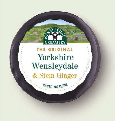 200g Wensleydale with Stem Ginger Truckle