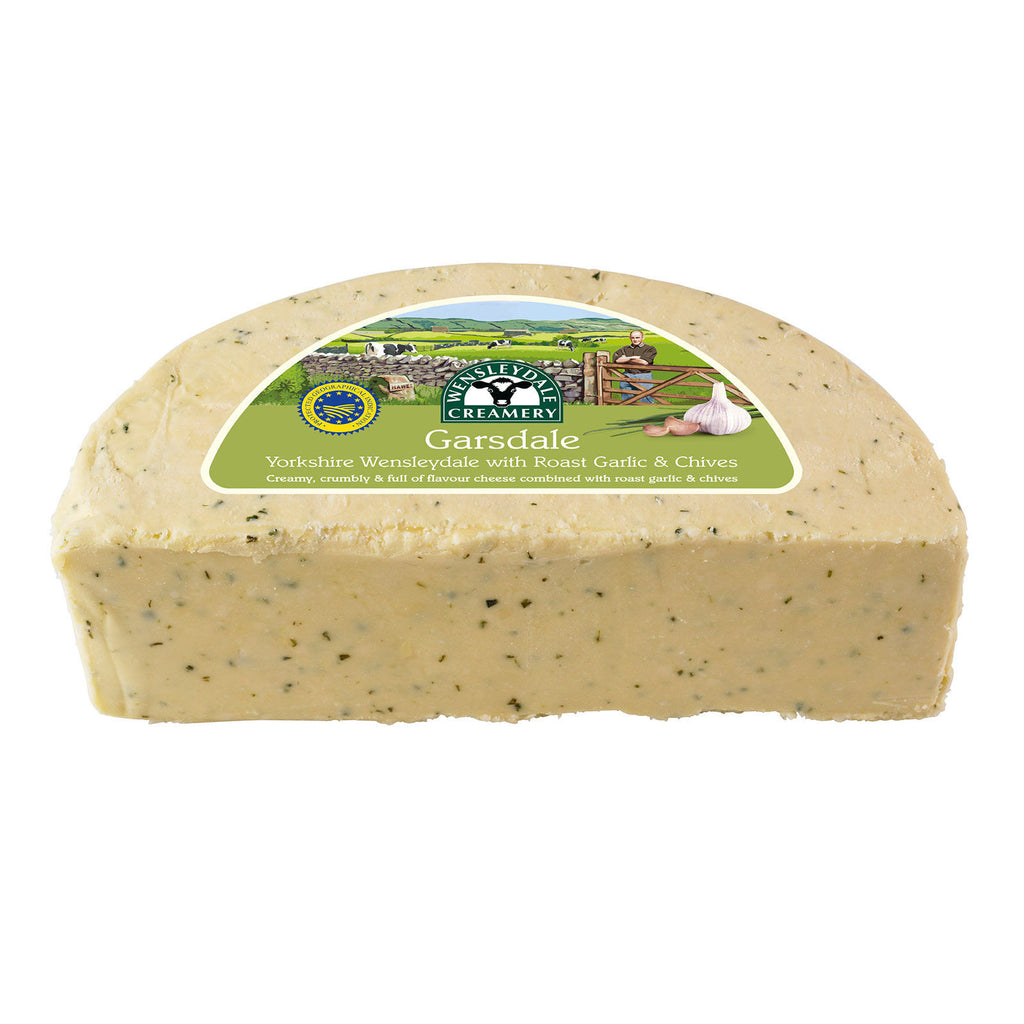 Garsdale - Yorkshire Wensleydale with Roast Garlic & Chives (1.25kg)