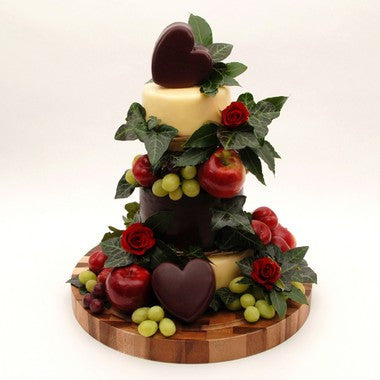 "Cheese Wedding Cake ""Heart's Desire"""