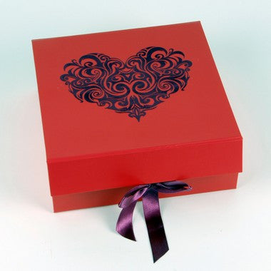 Luxury Red Heart Box