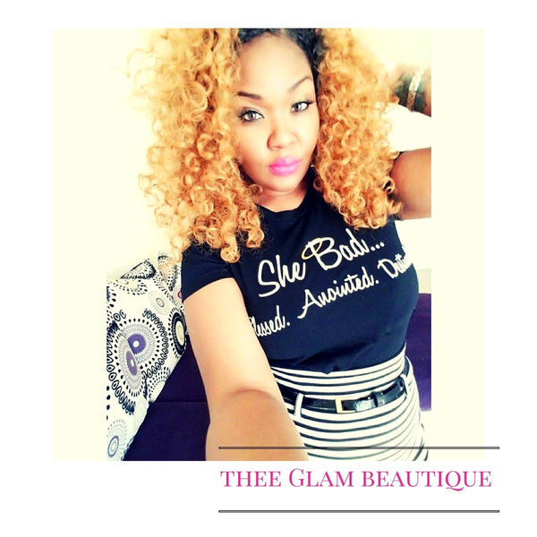 ***BEST SELLER #SheBad Glam R us Tee - GLAM Beautique
