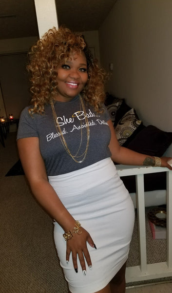 ****NEW ARRIVAL *** Gray Daze Short Sleeve #SheBAD Glam Signature Tee