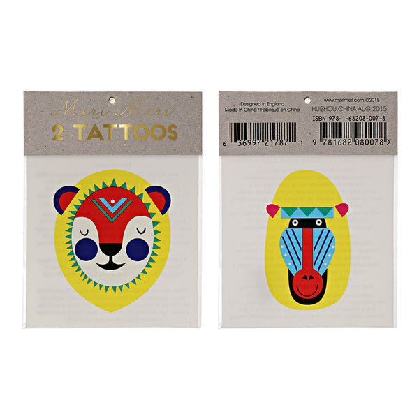 Lion & Baboon Tattoos
