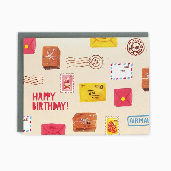 Happy Birthday Snail Mail Card THE GENERAL