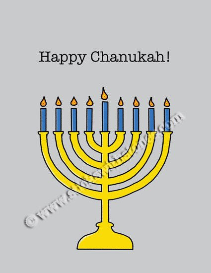 'Happy Chanukah!' Greeting Card