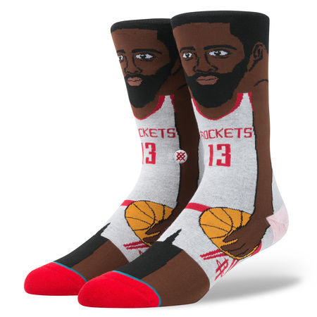 James Harden Cartoon Socks (Size L 9-12)
