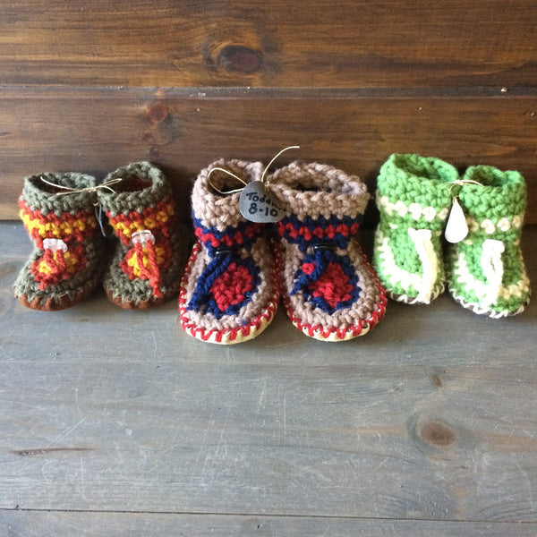HIPPERS crochet slippers (0 to 6 months)