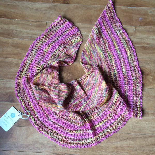 Peek-A-Boo Bay Shawl
