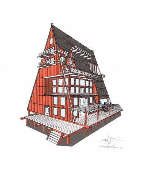 THE MODERN A-FRAME HOUSE Print