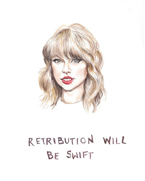 'Retribution will be Swift' Card
