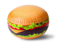 Gigantic Burger Inflatable Beach Ball