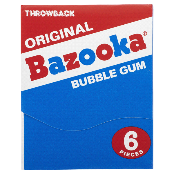 Bazooka gum throwback wallet pack