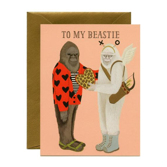 To My Beastie Valentine's Day Card