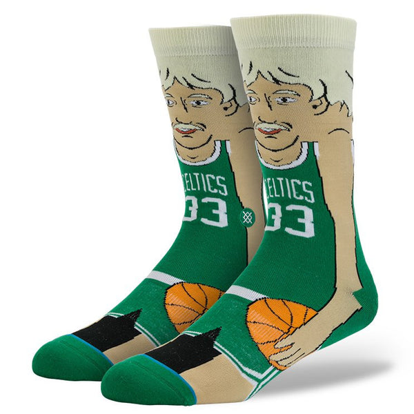 Larry Bird Cartoon Socks (Size L 9-12)