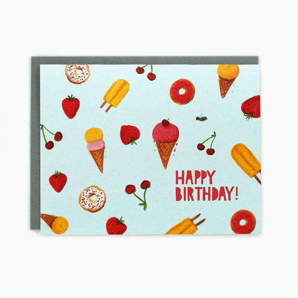Happy Birthday Birthday Sweets Card