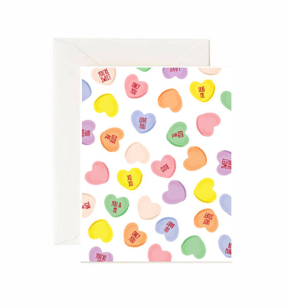 Candy Conversation Hearts Card