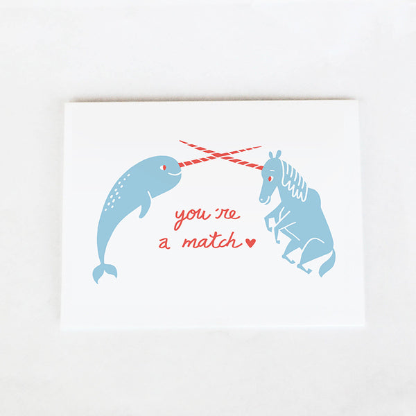 Narwhal and Unicorn Card