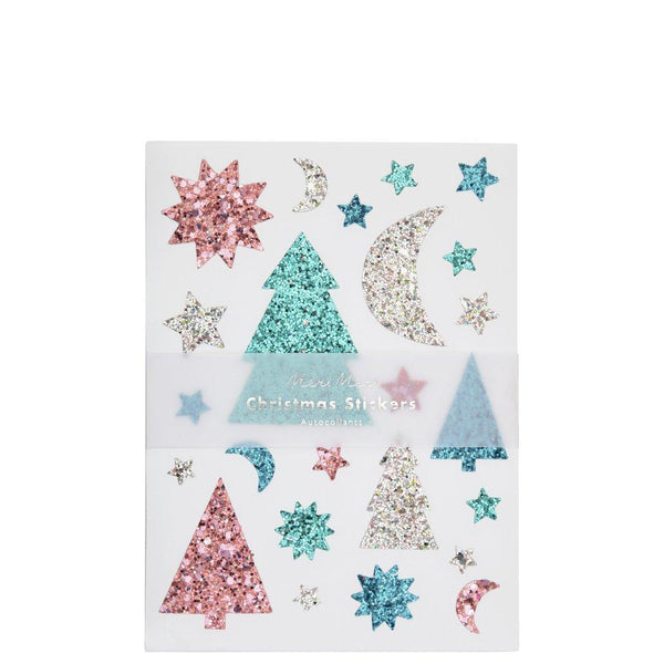 Chunky Christmas Glitter Stickers