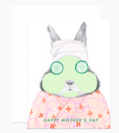 Happy Mother's Day Bunny Cucumber Facial Card