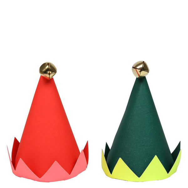 8 Mini Party Elf Hats