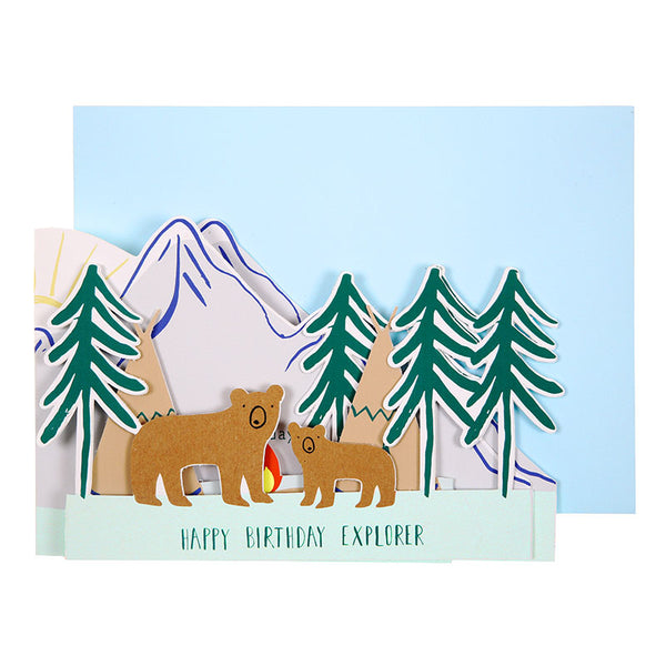 Happy Birthday Explorer Concertina Card