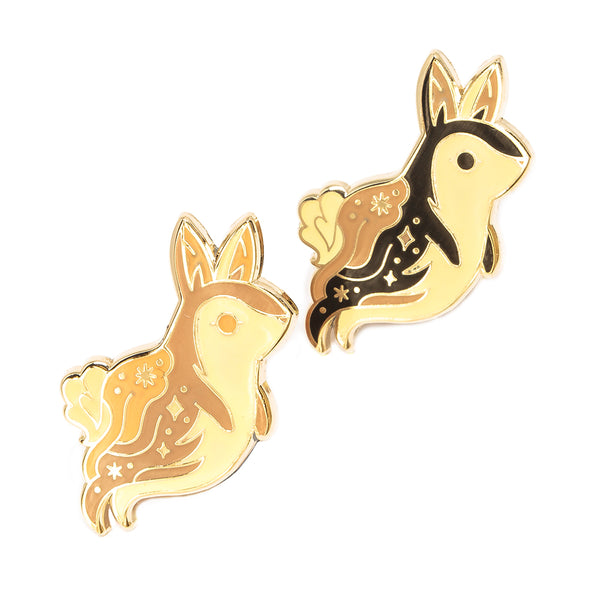 Ghost Bunny Glow in the Dark Pin