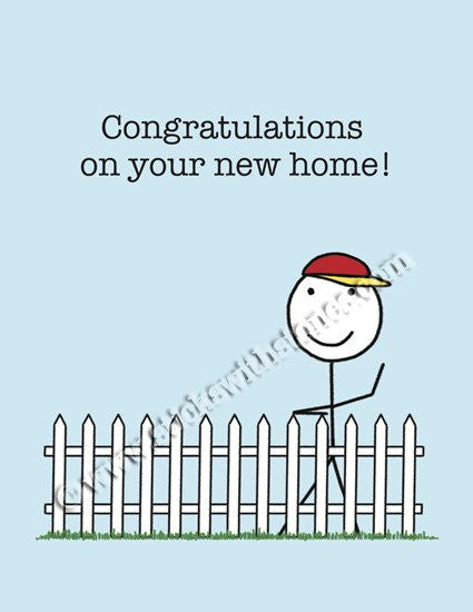 'Congratulations on your new home!' Greeting Card