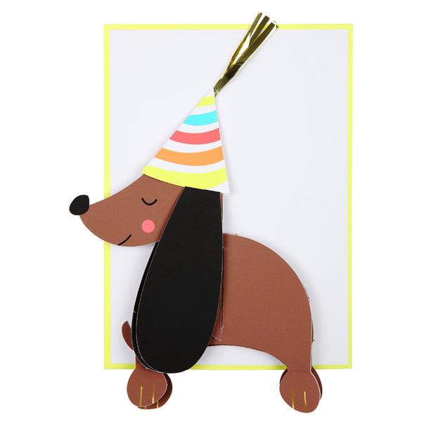 c565829eb73d HoneyComb Sausage Dog Birthday Card – THE GENERAL - Coffee Gifts Goods